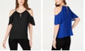 INC International Concepts I.N.C. Lace-Up Cold-Shoulder Top, Created for Macy's