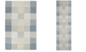 "Kas CLOSEOUT! Eternity Checkerboard 1081 Light Blue 2'3"" x 7'6"" Runner Area Rug"