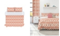 Colorfly Piper Duvet Cover Set, King, Coral