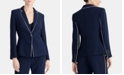 RACHEL Rachel Roy Piped One-Button Blazer, Created for Macy's