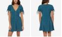O'Neill Juniors' Truly Cotton Tie-Sleeve Dress