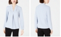 Bar III Inverted-Pleat Blouse, Created for Macy's