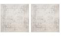 "Safavieh Adirondack Ivory and Silver 6'7"" x 6'7"" Square Area Rug"