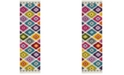 "Safavieh Fiesta Cream and Multi 2'3"" x 8' Runner Area Rug"