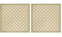 """Safavieh Linden Cream and Olive 6'7"""" x 6'7"""" Square Area Rug"""