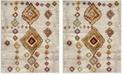 Safavieh Sagamore Light Gray and Terracotta 8' x 10' Area Rug