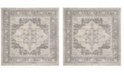 "Safavieh Brentwood Cream and Gray 6'7"" x 6'7"" Square Area Rug"