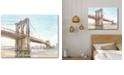 """Courtside Market Iconic Watercolor Bridge II Gallery-Wrapped Canvas Wall Art - 18"""" x 24"""""""
