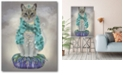 """Courtside Market Grey Cat with Bells Full Gallery-Wrapped Canvas Wall Art - 16"""" x 20"""""""