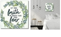 """Courtside Market Faith Gallery-Wrapped Canvas Wall Art - 16"""" x 16"""""""