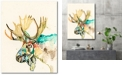 """Courtside Market Watercolor moose Gallery-Wrapped Canvas Wall Art - 18"""" x 24"""""""