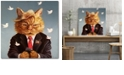 """Courtside Market Catty Remarks Gallery-Wrapped Canvas Wall Art - 16"""" x 16"""""""