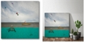 """Courtside Market There's Sharks in These Waters Gallery-Wrapped Canvas Wall Art - 16"""" x 16"""""""