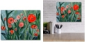 """Courtside Market Red pansies Gallery-Wrapped Canvas Wall Art - 16"""" x 20"""""""