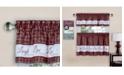 Achim Live, Love, Laugh Window Curtain Tier Pair and Valance Set, 58x36