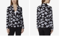 Tahari ASL Floral Jacquard Single-Button Jacket