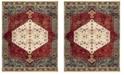 Safavieh Kashan Ivory and Blue 9' x 12' Area Rug