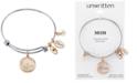 Unwritten Crystal Mom Shaker Charm Bangle Bracelet in Stainless Steel & Rose Gold-Tone