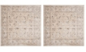 "Safavieh Vintage Light Gray and Ivory 6'7"" x 6'7"" Square Area Rug"