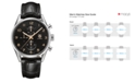 TAG Heuer Men's Swiss Automatic Carrera Calibre 1887 Black Alligator Leather Strap Watch 43mm CAR2014.FC6235