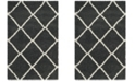 Safavieh Hudson Dark Gray and Ivory 4' x 6' Area Rug