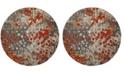 Safavieh Monaco Gray and Orange 5' x 5' Round Area Rug