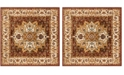 """Safavieh Summit Red and Ivory 6'7"""" x 6'7"""" Square Area Rug"""