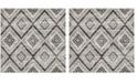 Safavieh Skyler Gray and Black 4' x 4' Square Area Rug
