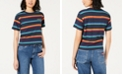 Dickies Cotton Rainbow Striped Tomboy T-Shirt
