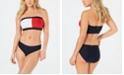 Tommy Hilfiger Logo Bandeau Bikini Top & Hipster Bikini Bottoms