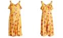 Bonnie Jean Big Girls Floral-Print Gaucho Jumpsuit