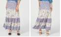 Style & Co Mixed-Print Tiered Maxi Skirt, Created for Macy's
