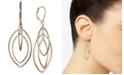 Anne Klein Gold-Tone Orbital Drop Extra Large Earrings