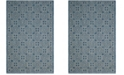 "Safavieh Courtyard Navy and Gray 6'7"" x 9'6"" Area Rug"
