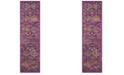"Safavieh Madison Fuchsia and Blue 2'3"" x 12' Sisal Weave Runner Area Rug"