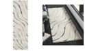 "Safavieh Shag Cream and Blue 2'3"" x 7' Runner Area Rug"