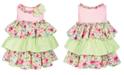 Bonnie Baby Baby Girls Tiered Ruffle Dress