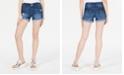 Vanilla Star Juniors' Ripped Flap-Pocket Denim Shorts