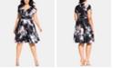 City Chic Trendy Plus Size Flourished Dress