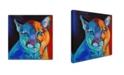 "Trademark Global Corina St. Martin 'Mountain Lion' Canvas Art - 14"" x 14"" x 2"""