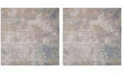 "Safavieh Meadow Gray and Gold 6'7"" x 6'7"" Square Area Rug"
