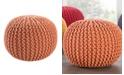 Jaipur Living Visby Orange Textured Round Pouf