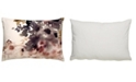 """Jaipur Living Luli Sanchez By Bryony Purple/White Floral Poly Throw Pillow 14"""" x 20"""""""