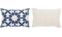 "Jaipur Living Nikki Chu By Casino Blue/Ivory Geometric Down Throw Pillow 16"" x 24"""