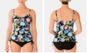 Swim Solutions Keyhole Tankini Top & Ruched Bottoms, Created for Macy's