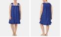 Eileen West Plus Size Eyelet-Trim Cotton Knit Nightgown