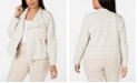 Calvin Klein Plus Size Tweed Flyaway Jacket