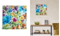 """iCanvas """"Turquoise Zinnias"""" By Kim Parker Gallery-Wrapped Canvas Print - 26"""" x 26"""" x 0.75"""""""