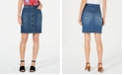 Style & Co Petite Button-Down Denim Skirt, Created for Macy's