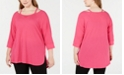 Calvin Klein Plus Size Cutout-Neck Top